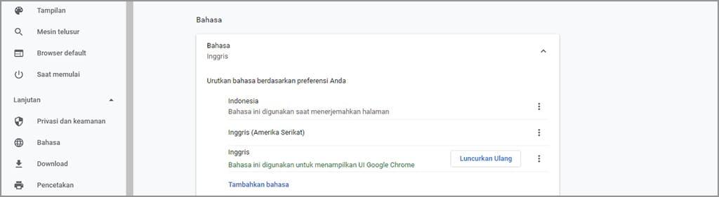 mengubah bahasa di google chrome itu mudah