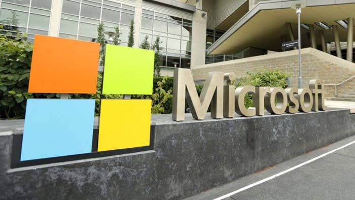 Microsoft Layoffs Office Front