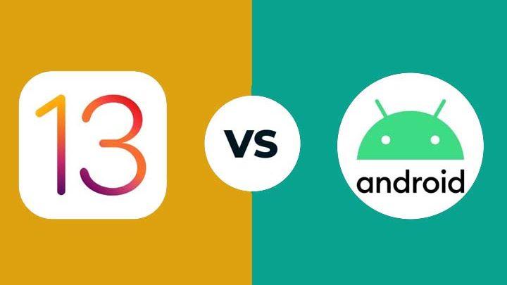 Perbandingan Android 10 dan iOS 13