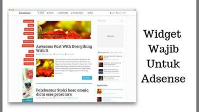 Widget wajib untuk blog