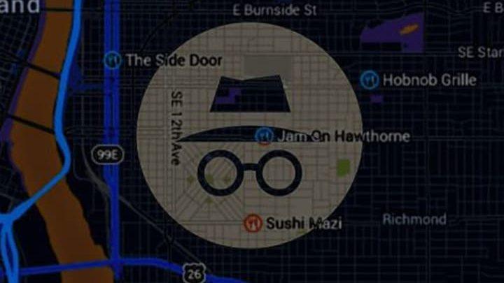 incognito mode di google maps