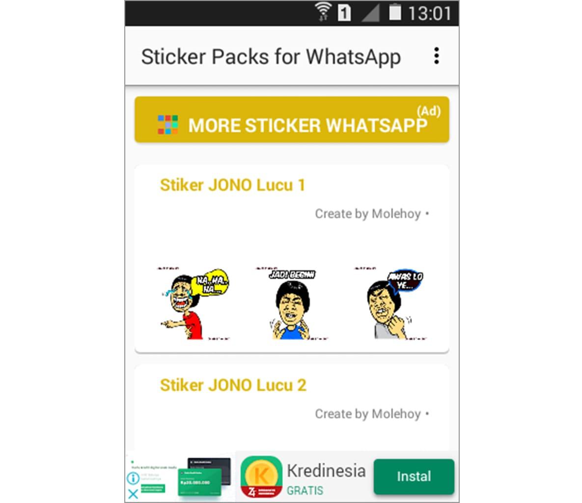 menambahkan stiker baru whatsapp