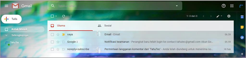 cara membuat tampilan gmail