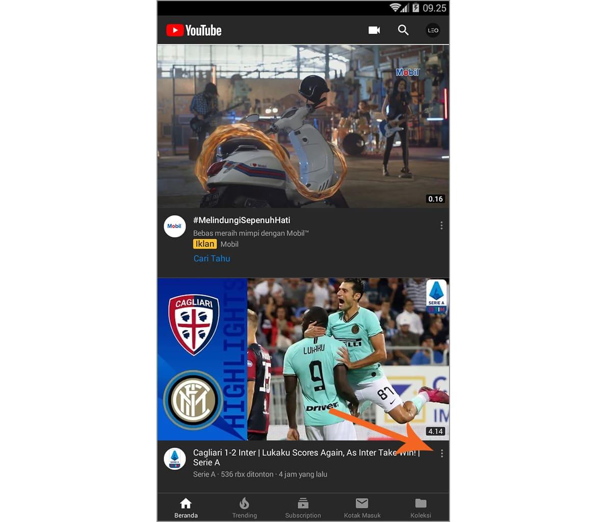 mengatur video rekomendasi youtube