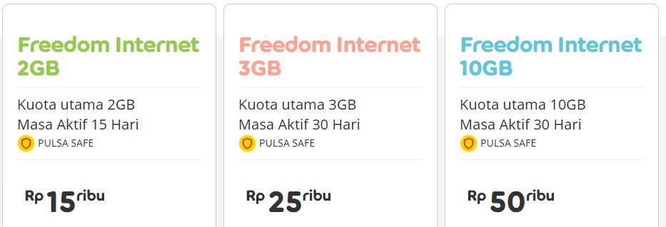 Paket Freedom Internet IM3 Ooredoo