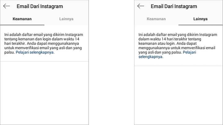 fitur email instagram