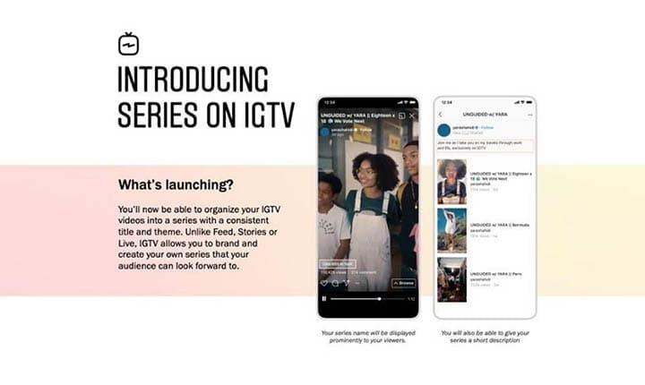 Instagram Tambahkan Opsi Seri IGTV untuk Mengkategorikan Video