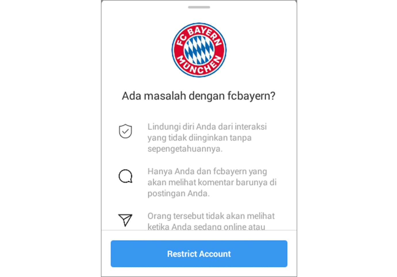 fitur restrict instagram 1