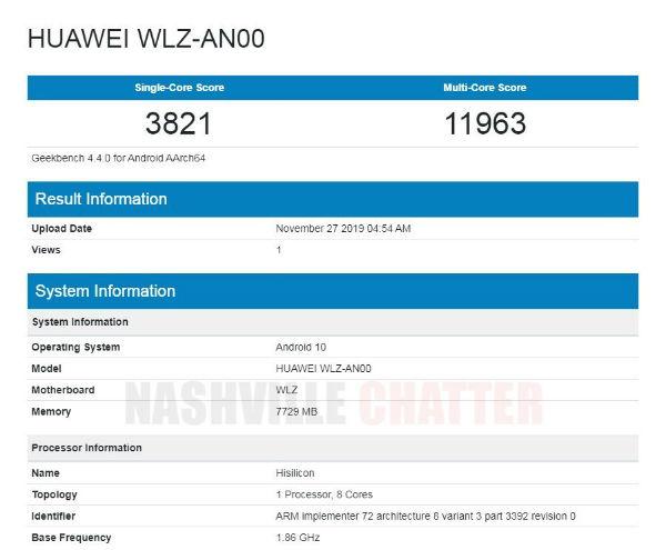 Bocoran Huawei Nova 6 5G ban