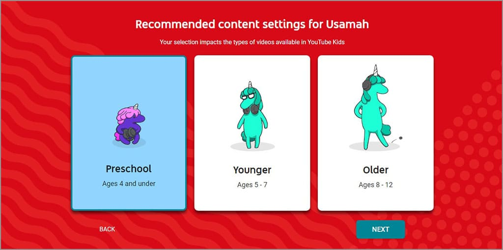 buat profil anak youtube kids 2