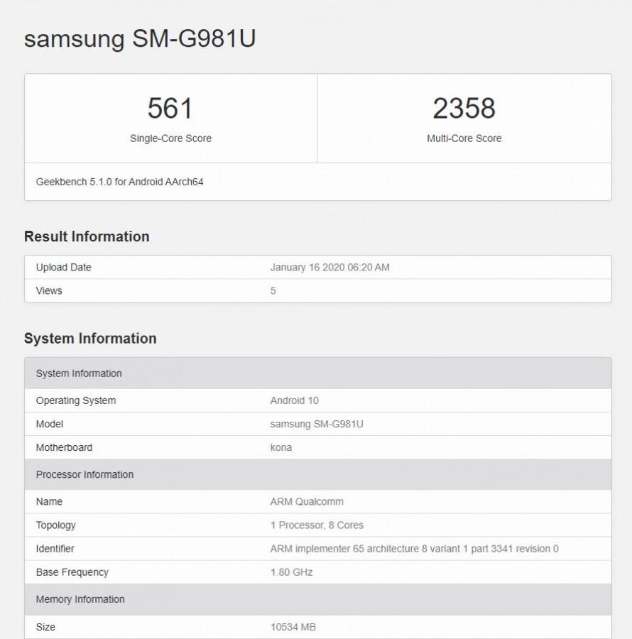 Bocoran Spesifikasi Kamera Samsung Galaxy S20