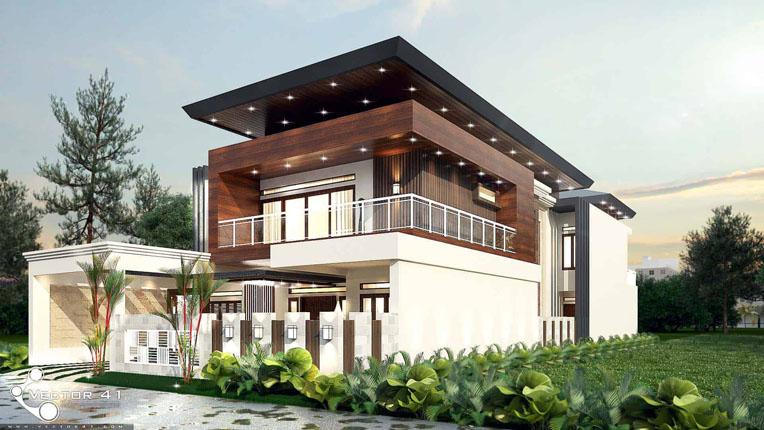 Konsep Rumah Minimalis dengan Desain Arsitektur Unik dan Mewah