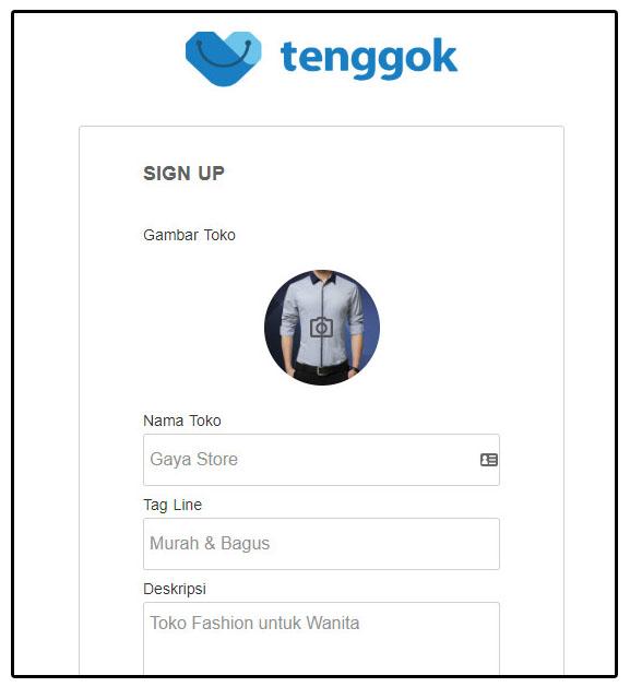 Daftar Toko online tenggok