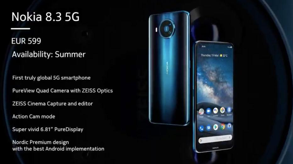 Spesifiaksi Nokia 8.3 5G