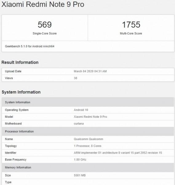 Penampakan Redmi Note 9 Pro
