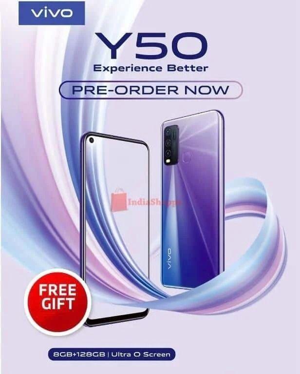 Bocoran Spesifikasi Vivo Y50