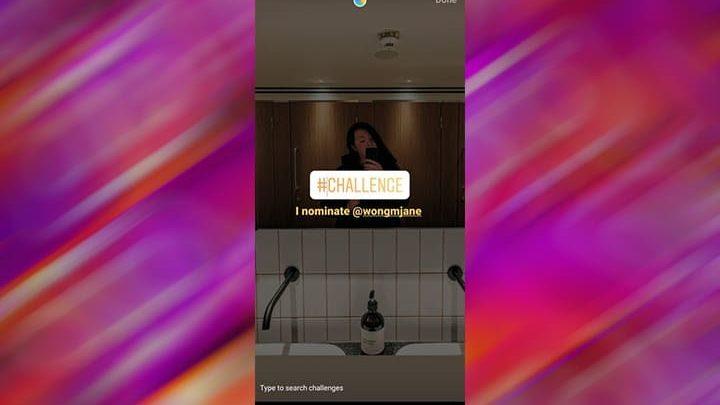 stiker challenge instagram