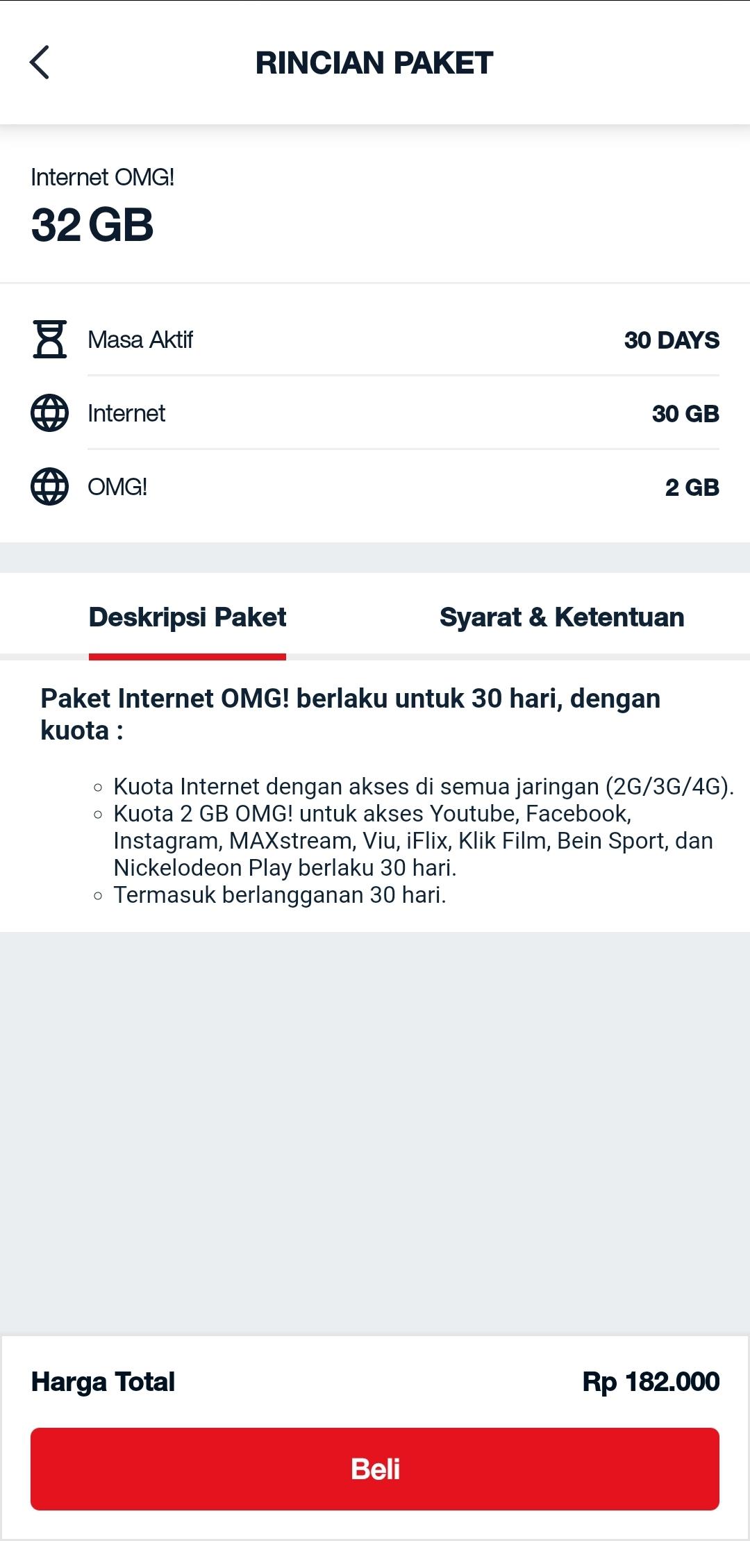Internet OMG 32 GB