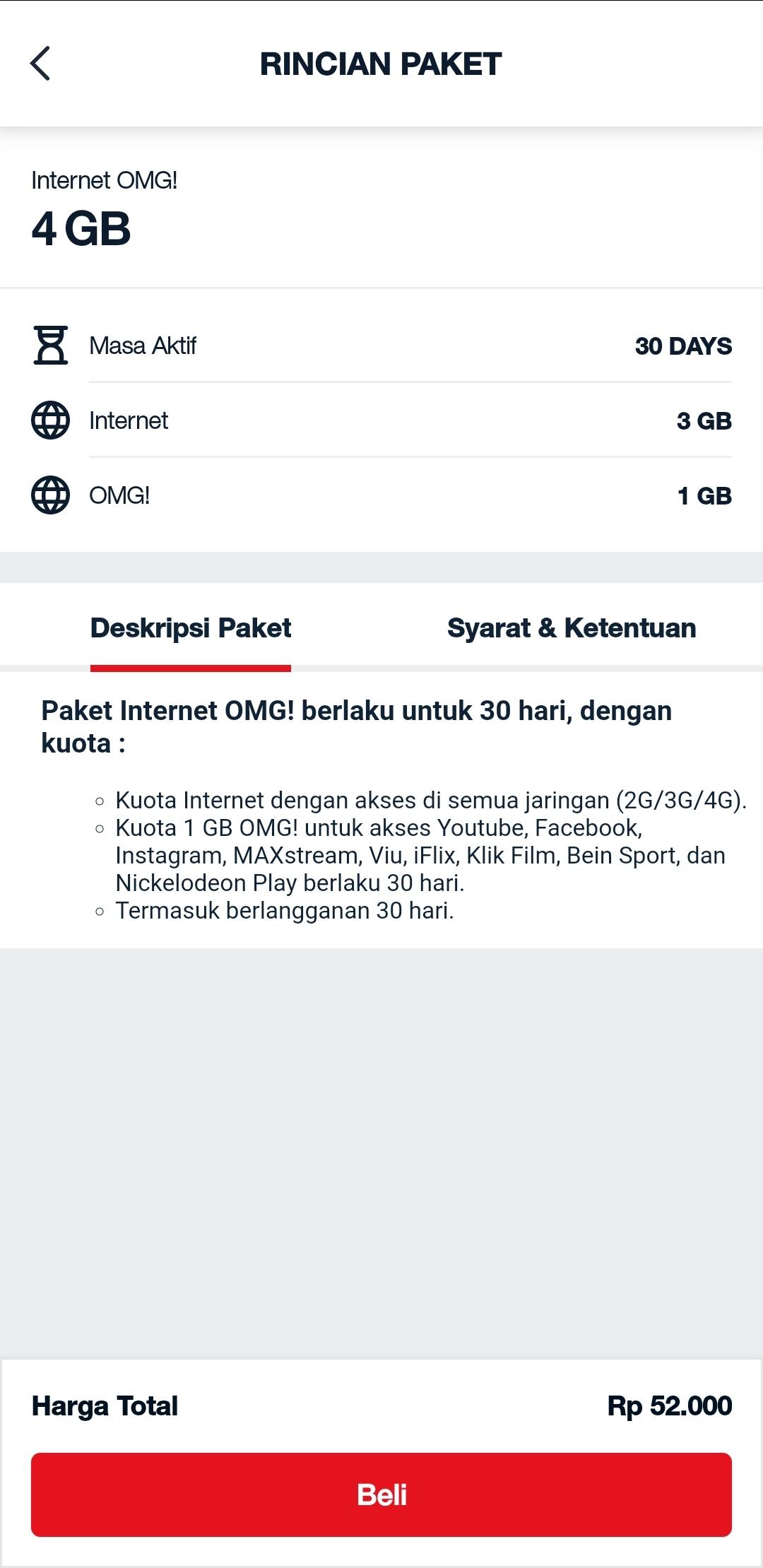 Internet OMG 4 GB