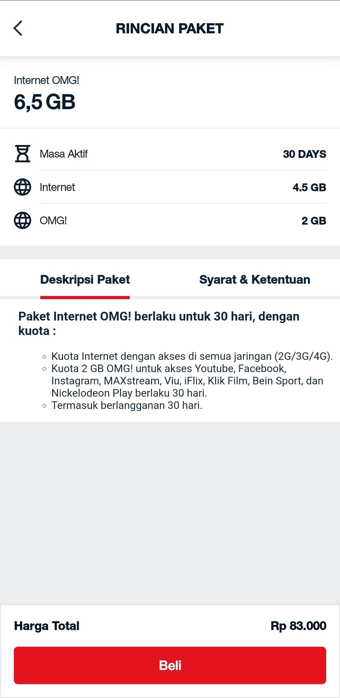 Internet OMG 6,5 GB