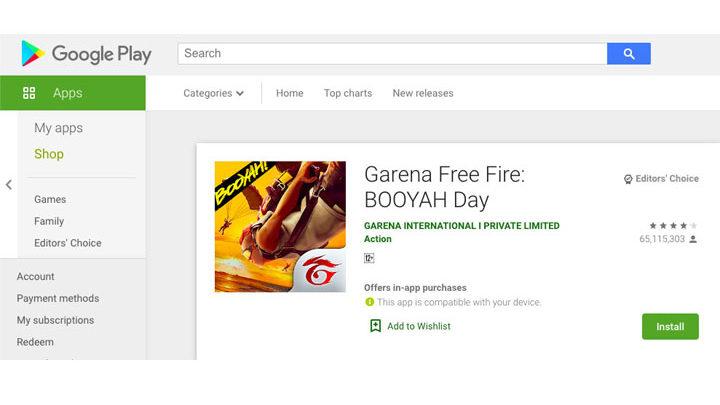 aplikasi Main Free Fire